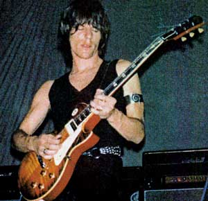 Jeff Beck and his Les Paul