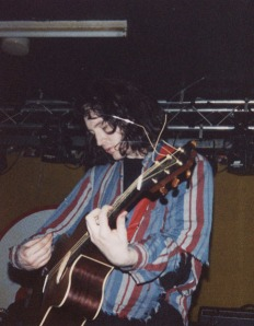 Kevin Shields in 1989 playing an electro-acoustic (Takamine?)