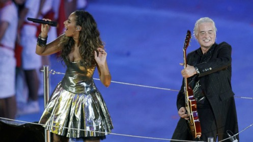 "Jimmy Page and Leona Lewis performing ""Whole Lotta Love""...legendary!"