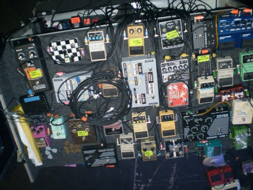 The Mother Of All pedalboards. Click to enlarge