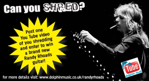 Shred & Win! You Tube Guitar Shredding Competition!